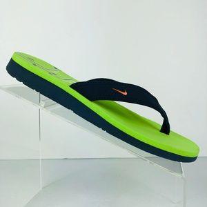 Nike 1972 Green Blue Flip Flop Sandal Size: 8 M